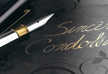 Ecrire un texte de condoléances